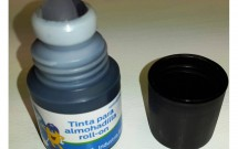 Tinta para sello de 30cc roll on color Negro