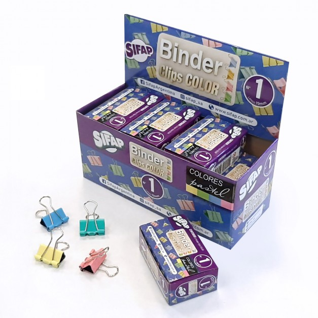 Binder clips Nº1 Color